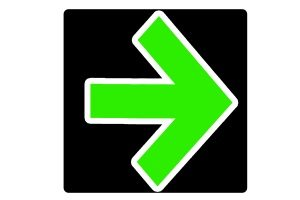 """Regelungen zum Verkehrszeichen """"grüner Pfeil auf schwarzem Grund"""" befinden sich in der StVO."""