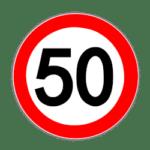 Verkehrszeichen 250: Tempo auf 50 km/h beschränkt