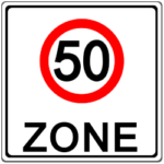 Verkehrszeichen 247.1: 50er Zone