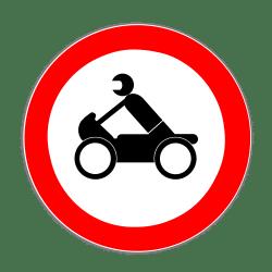 Motorrad: Das Verkehrszeichen 255 verbietet die Durchfahrt von Krafträdern.
