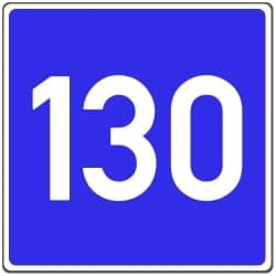 Die Richtgeschwindigkeit kann auch durch ein Schild angezeigt werden.